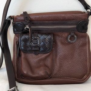 Brightonbrown leather purse 8X8 very little wear